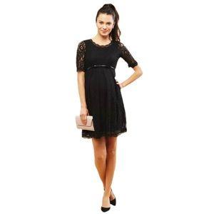 Motherhood Maternity Black Lace Dress